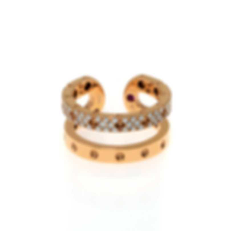 Roberto Coin Symphony 18k Rose Gold Diamond 0.47ct Ring Sz 6.5 7771692AX65X