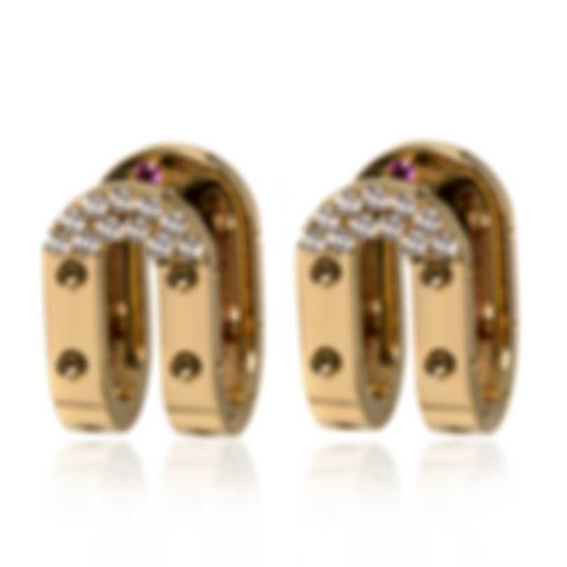 Roberto Coin Symphony Pois Moi 18k Gold Diamond 0.28ct Earrings 7771769AYERX