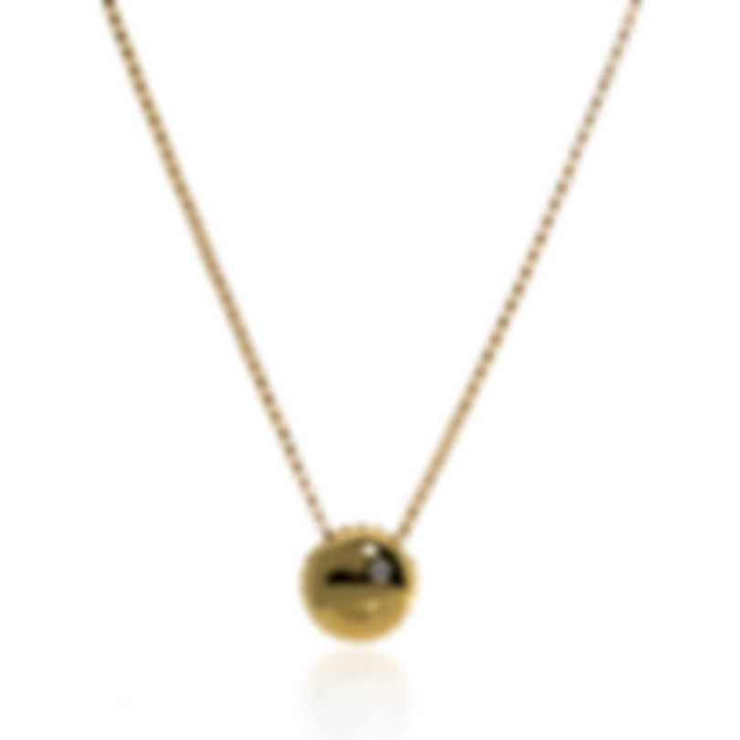 Roberto Coin Emoji 18k Yellow Gold Diamond(0.02ct Twd.)Necklace 7771792AY18X
