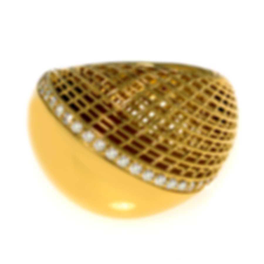 Roberto Coin 18k Yellow Gold Diamond 0.29ct Ring Sz 6.5 7771852AY65X