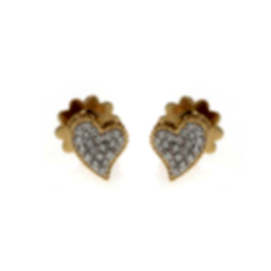 Roberto Coin Tiny Treasures 18k Yellow Gold Diamond Earrings 7771863AJERX