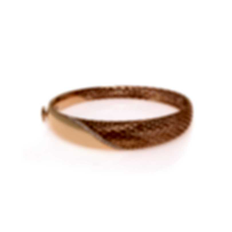 Roberto Coin Diamond Silk 18k Rose Gold Diamond 0.37ct Bracelet 7771866AXBAX