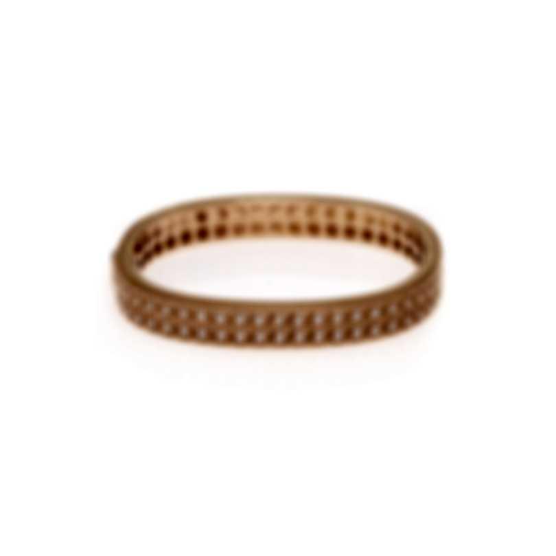 Roberto Coin Womens Barocco 18k Rose Gold Diamond 1.00ct Bracelet 7771947AXBAX