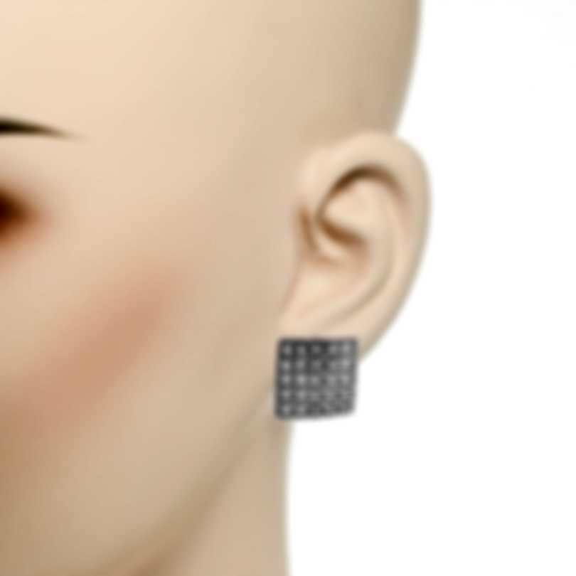 Roberto Coin Womens Barocco 18k White Gold Diamond 0.87ct Earrings 7771948AWERX