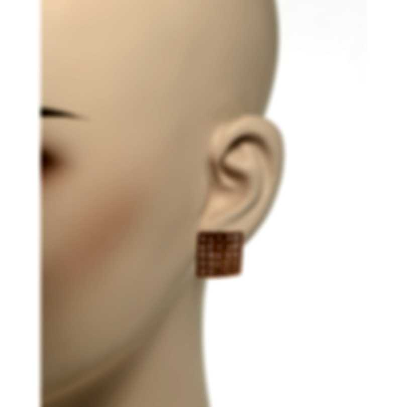 Roberto Coin Womens Barocco 18k Rose Gold Diamond 0.87ct Earrings 7771948AXERX