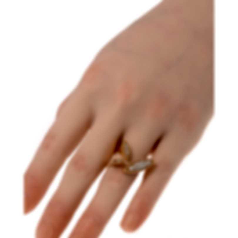 Roberto Coin Garden Princess 18k Rose Gold Diamond 0.32ct Ring 6.5 7771954AX65X