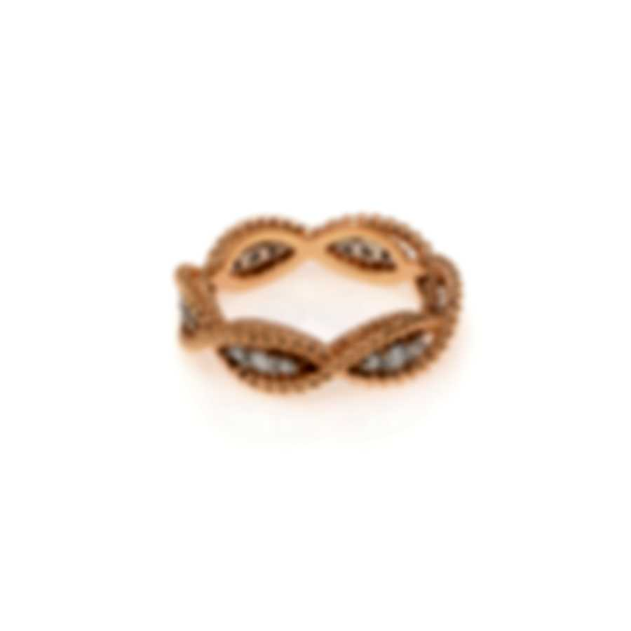 Roberto Coin New Barocco 18k Rose Gold Diamond 0.46ct Ring Sz 6.5 7771066AH65X