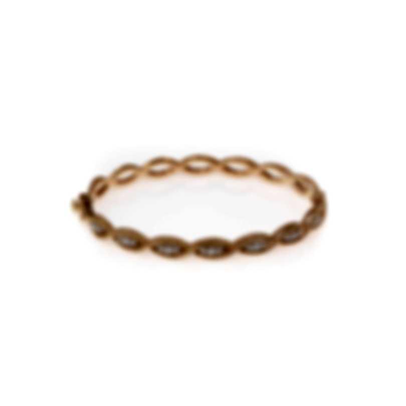 Roberto Coin New Barocco 18k Rose Gold Diamond 0.56ct Bracelet 7771066AHBAX