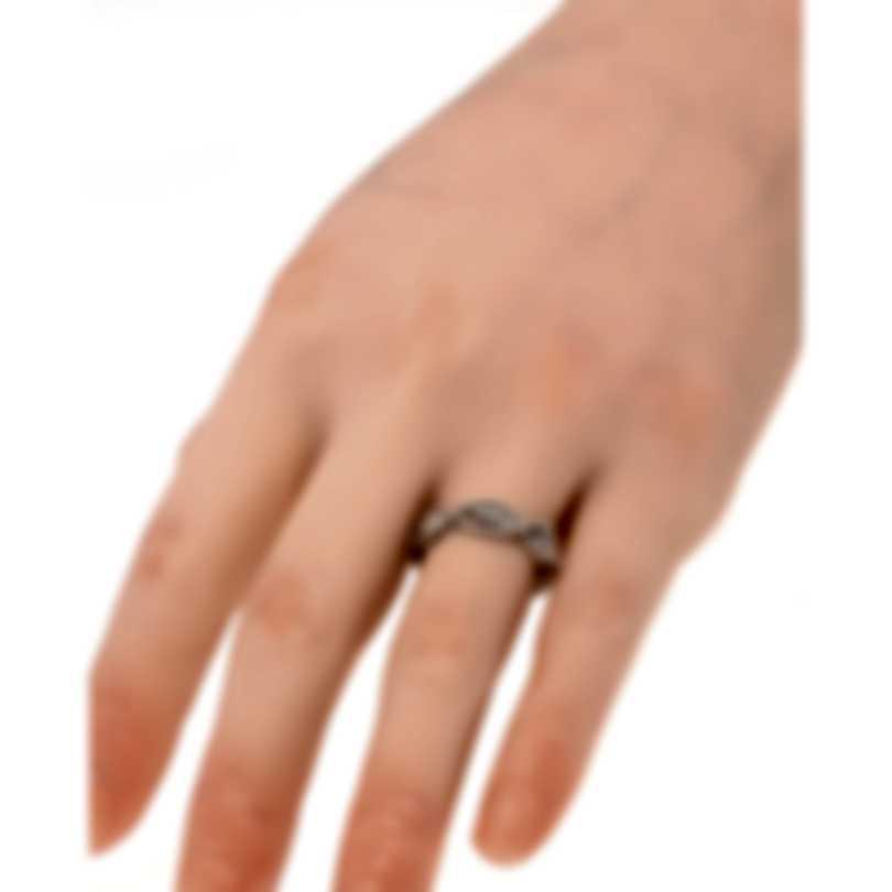 Roberto Coin New Barocco 18k White Gold Diamond 0.46ct Ring Sz 6.5 7771066AW65X