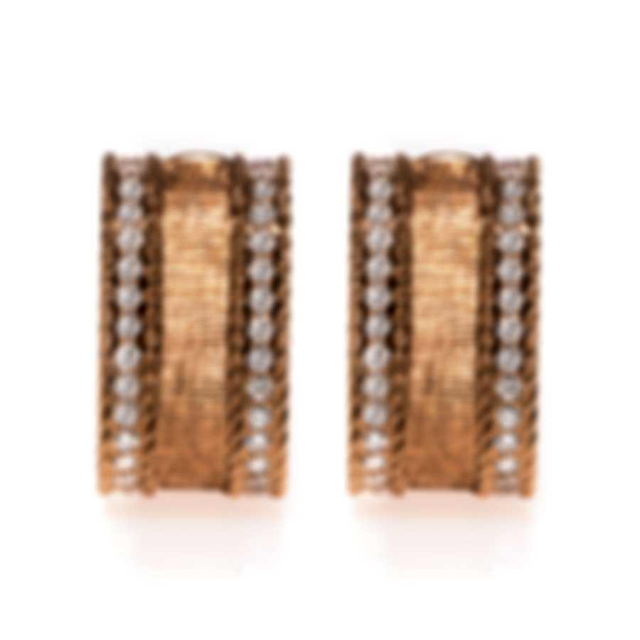 Roberto Coin Princess 18k Rose Gold Diamond 1.05ct Earrings 7771206AXERX