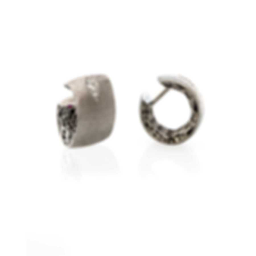 Roberto Coin Golden Gate 18k White Gold Diamond 0.1ct Earrings 7771241AWERX1