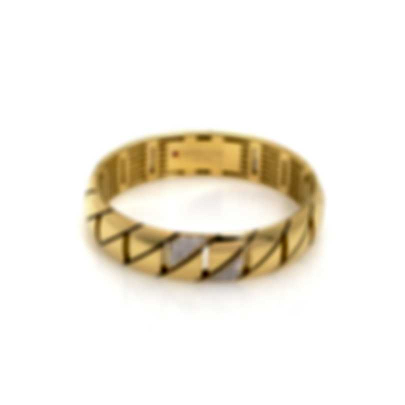 Roberto Coin Gourmette 18k Gold Diamond(0.43ct Twd)Bracelet 7771244AJBAX