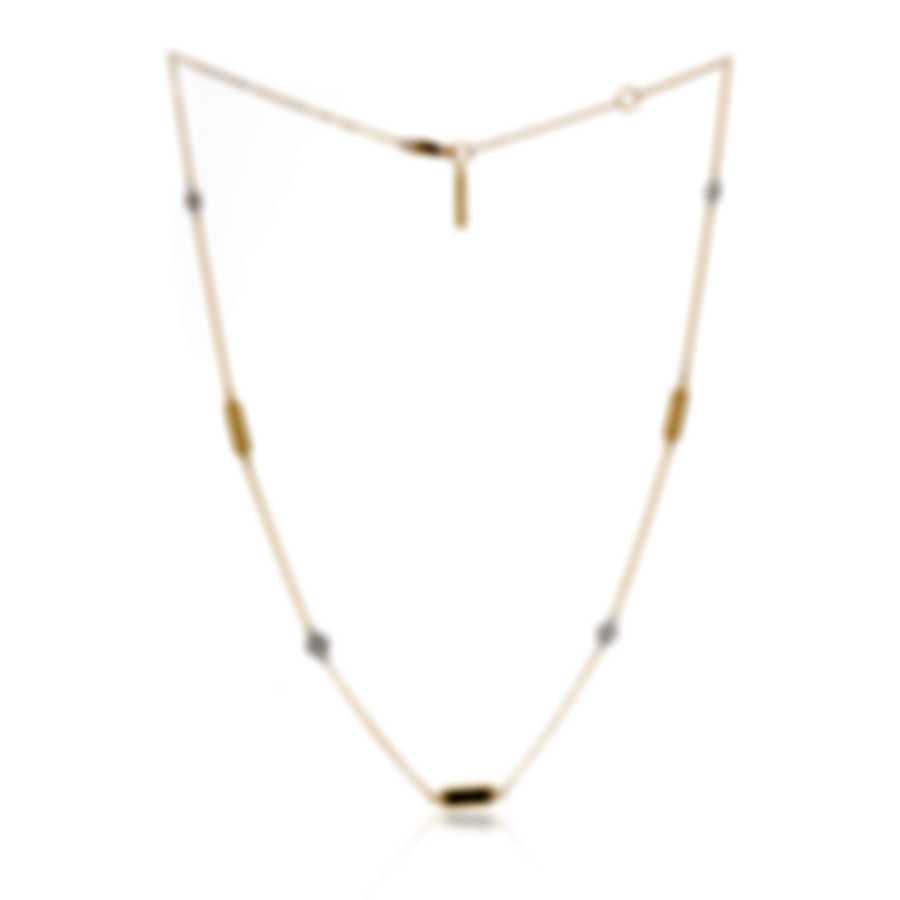 Roberto Coin New Barocco Station 18k Gold Diamond 0.18ct Necklace 7771248AJ18X