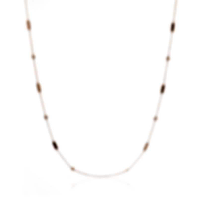 Roberto Coin New Barocco Station 18k Gold Diamond 0.38ct Necklace 7771248AX36X