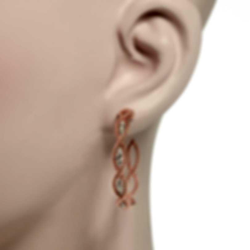 Roberto Coin New Barocco 18k Rose Gold Diamond 0.62ct Earrings 7771268AXERJX
