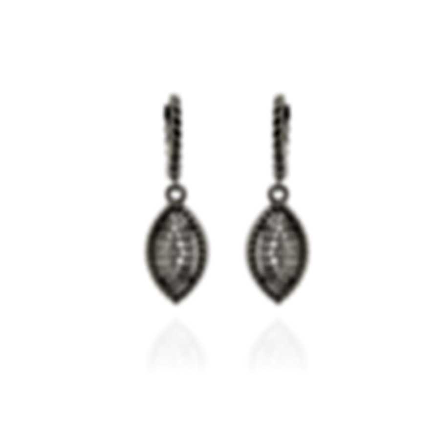 Roberto Coin New Barocco 18k White Gold Diamond 0.6ct Earrings 7771328AWERX
