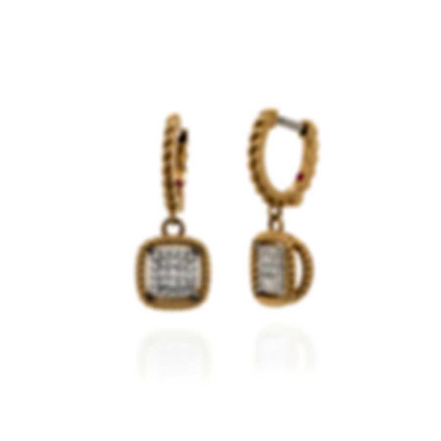 Roberto Coin New Barocco 18k Yellow Gold Diamond 0.32ct Earrings 7771329AJERX