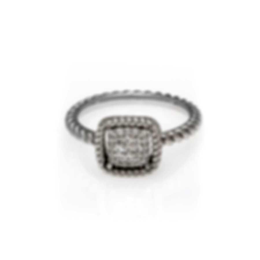 Roberto Coin New Barocco 18k White Gold Diamond 0.16ct Ring Sz 6.5 7771329AW65X