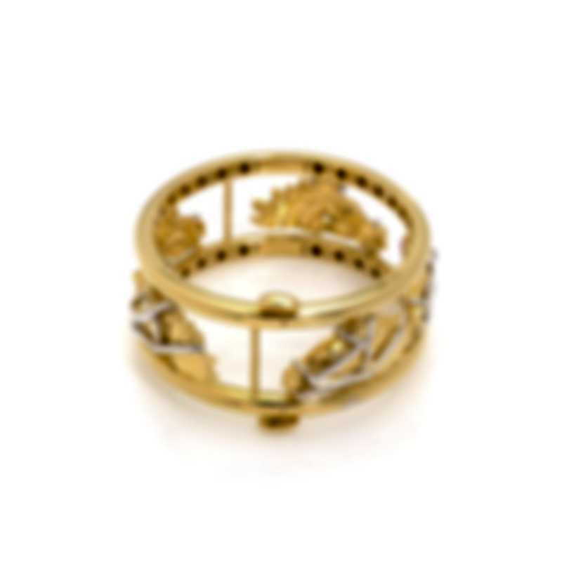 Roberto Coin Cheval 18k Yellow Gold Diamond(0.06ct Twd.)Bracelet 7771337AJBAX