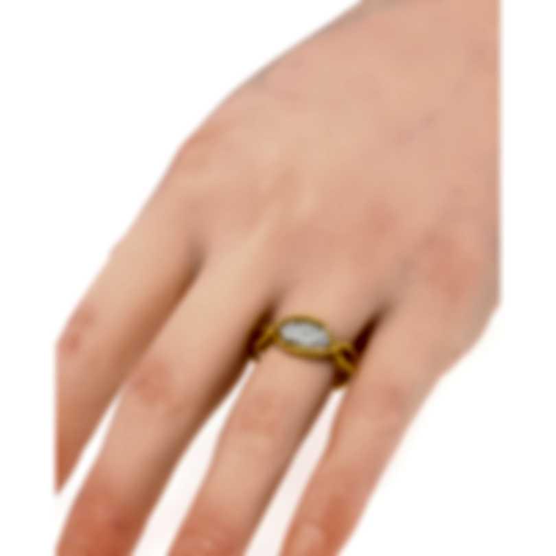 Roberto Coin New Barocco 18k Yellow Gold Diamond 0.24ct Ring Sz6.5 7771346AJ65X