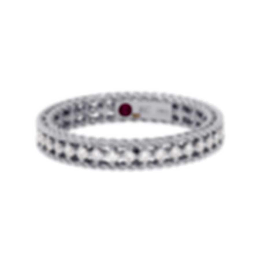 Roberto Coin Symphony 18k White Gold Diamond 0.43ct Ring Sz 6.5 7771359AW65X