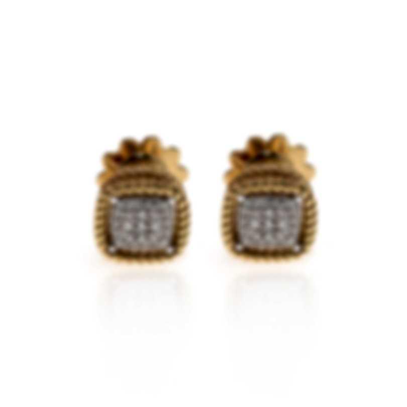 Roberto Coin New Barocco 18k Yellow Gold Diamond 0.30ct Earrings 7771364AJERX