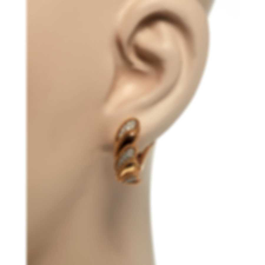 Roberto Coin Womens Barocco 18k Rose Gold Diamond 0.35ct Earrings 7772771AHERX