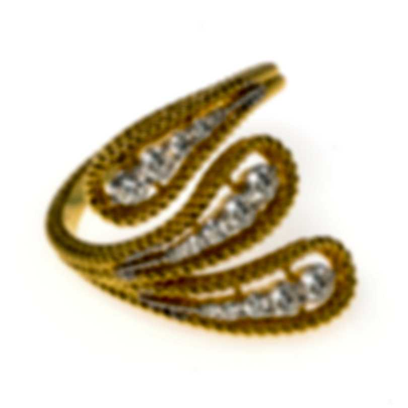 Roberto Coin Byzantine Barocco 18k Yellow & White Gold Diamond 0.45ct Ring Sz6.5