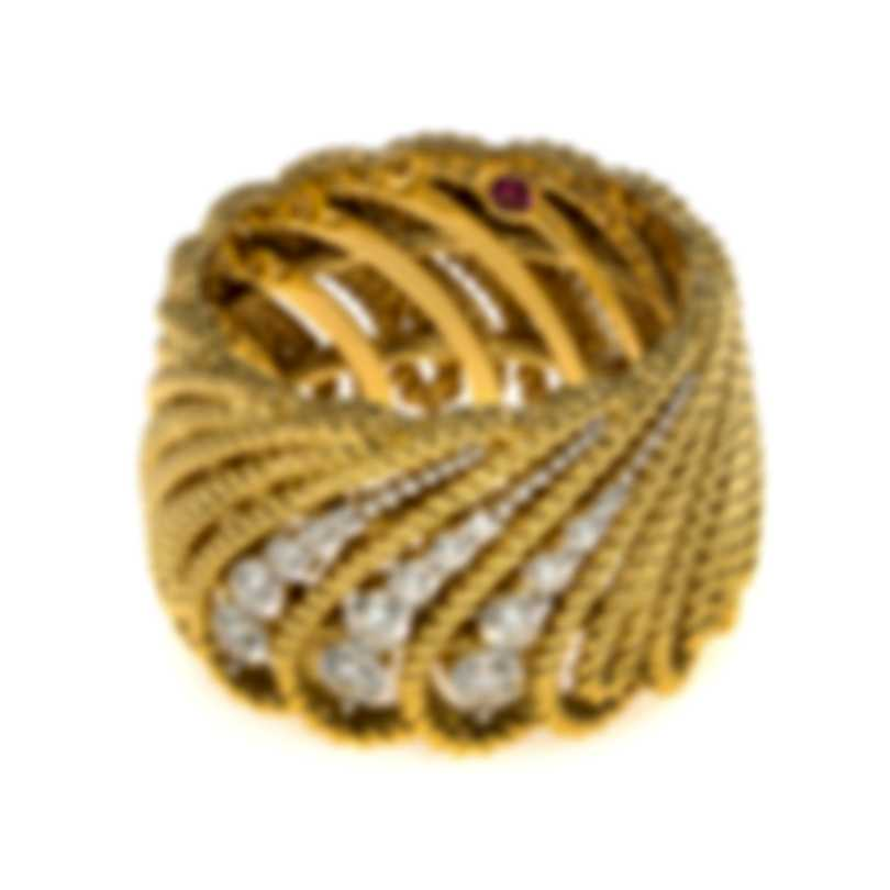 Roberto Coin Byzantine Barocco 18k Yellow & White Gold Diamond 0.45ct Ring Sz6.5-1