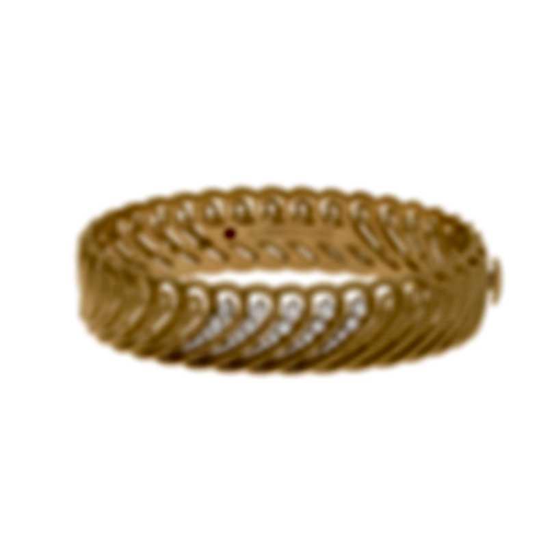 Roberto Coin Byzantine 18k Yellow & White Gold Diamond Bracelet 7772821AJBAX