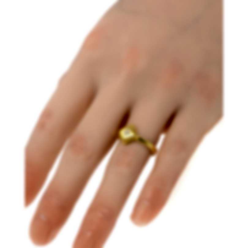 Roberto Coin Palazzo Ducale 18k Yellow Gold Diamond Ring Sz 6.5 7772886AY65X
