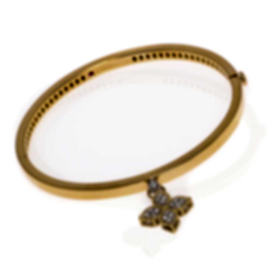 Roberto Coin Princess Flower 18k Yellow & White Gold Diamond 0.20ct Bracelet