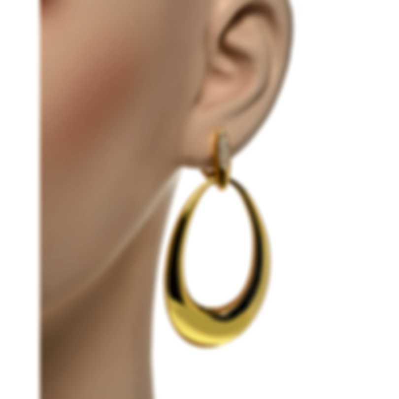 Roberto Coin Oro Classic 18k Yellow Gold Diamond 0.20ct Earrings 7772022AJERX