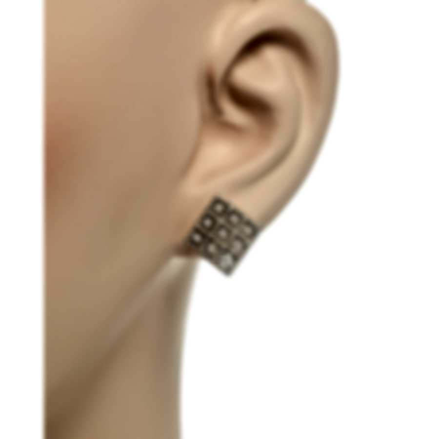 Roberto Coin Womens Barocco 18k White Gold Diamond 0.30ct Earrings 7772024AWERX