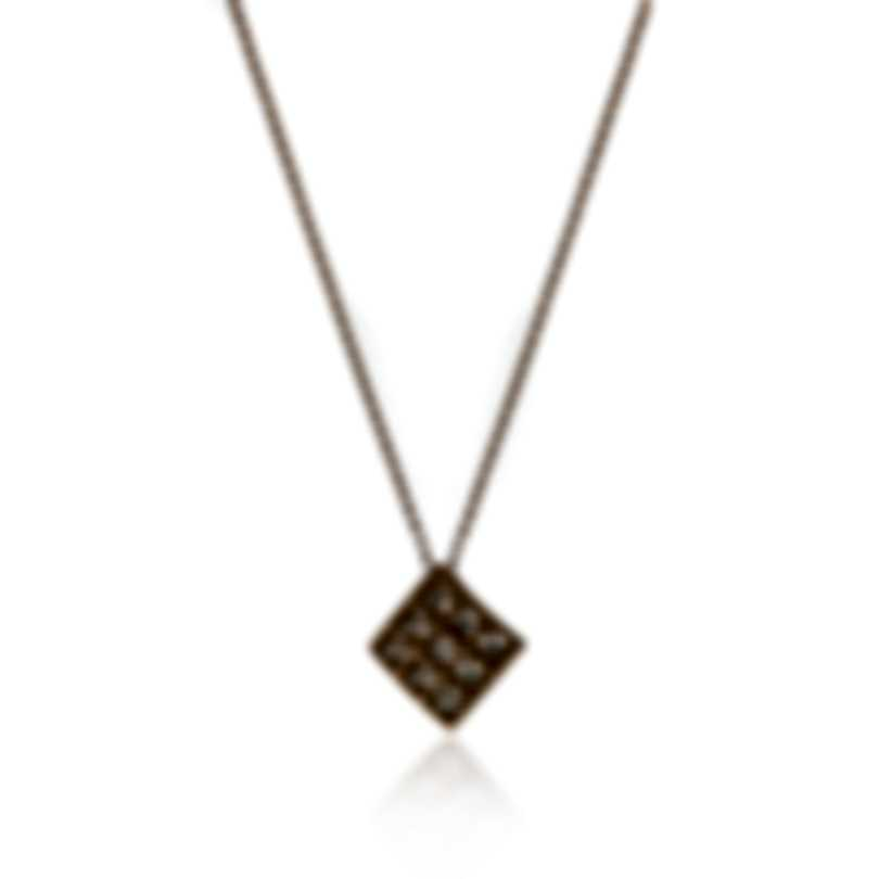 Roberto Coin Womens Barocco 18k Rose Gold Diamond 0.14ct Necklace 7772024AXCHX