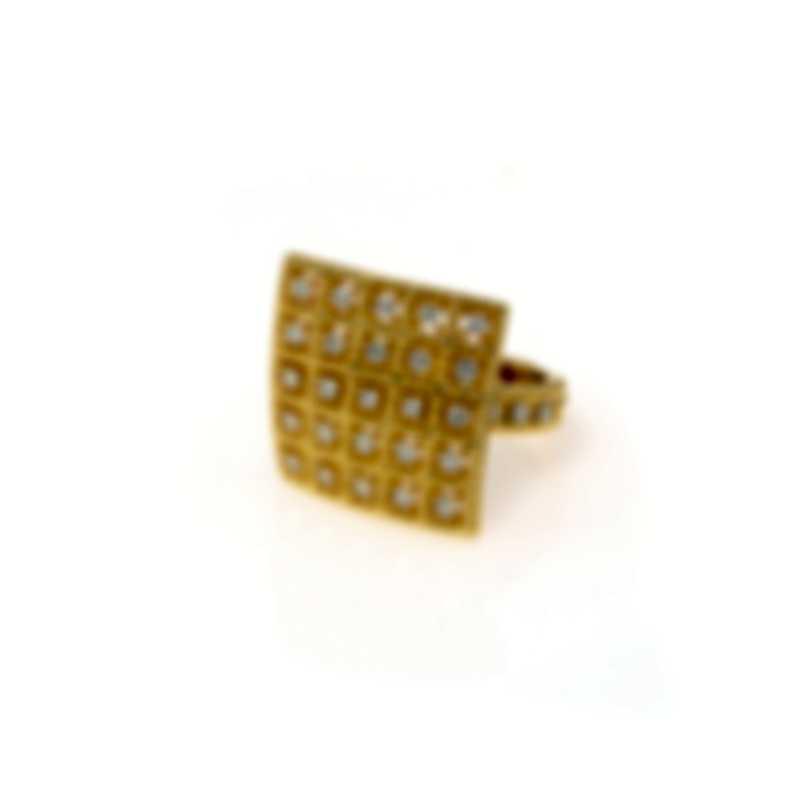 Roberto Coin Barocco 18k Yellow Gold Diamond 0.53ct Ring Sz 6.5 7772025AY65X