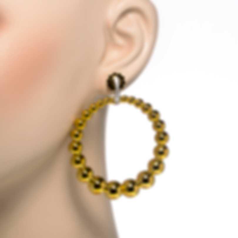Roberto Coin Chic & Shine 18k Yellow & White Gold Diamond Earrings 7773012AJERX