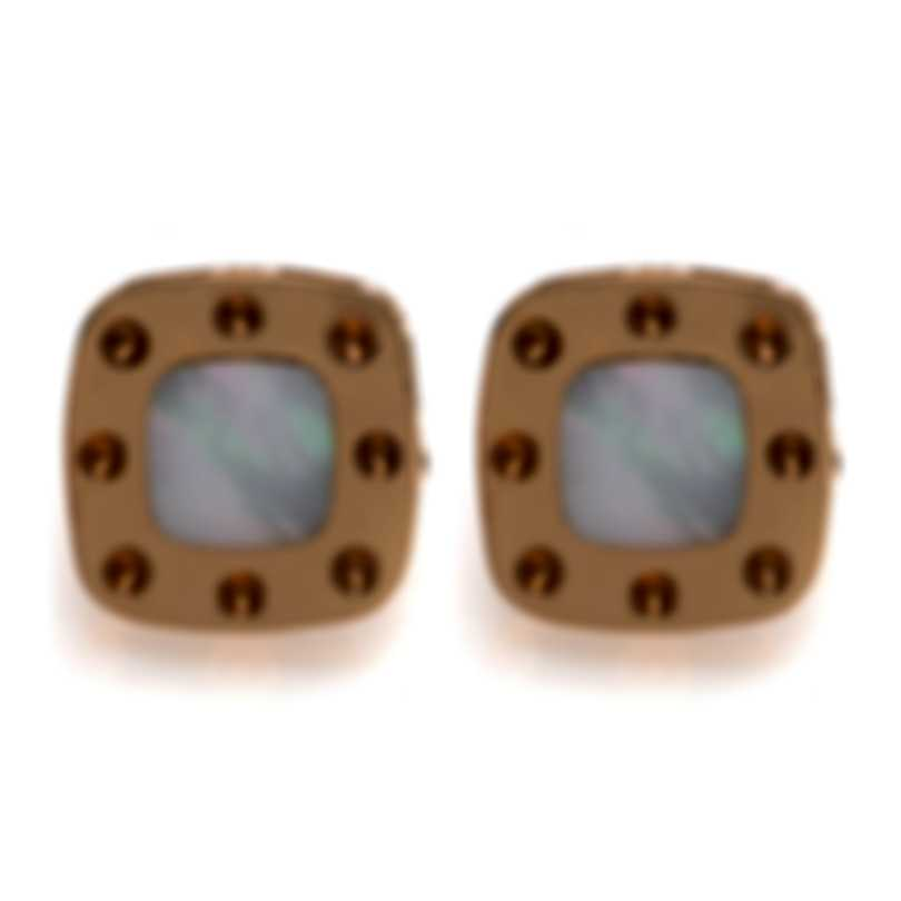 Roberto Coin Pois Moi 18k Rose Gold And Mother Of Pearl Earrings 777975AXERMP