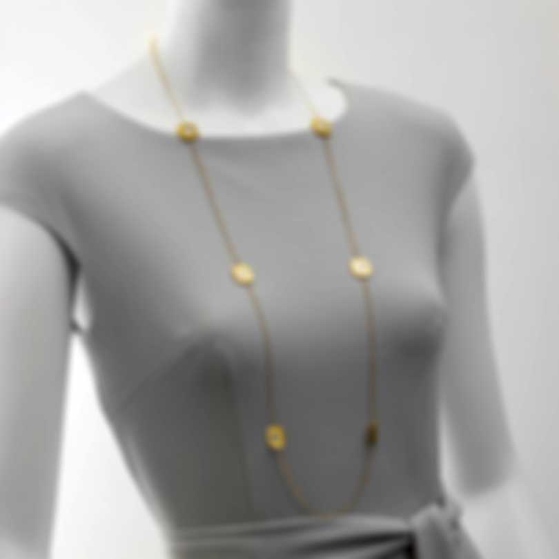 Roberto Coin Pois Moi 18k Yellow Gold And Mother Of Pearl Necklace 777993AY39MP