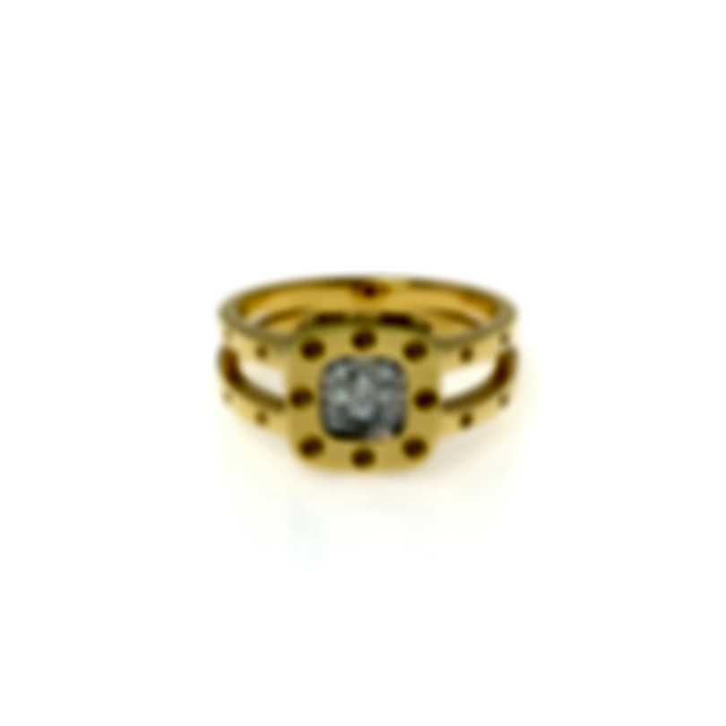 Roberto Coin Pois Moi 18k Yellow Gold Diamond 0.11ct Ring Sz 6.5 777920AJ65X0