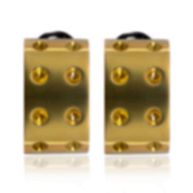 Roberto Coin Pois Moi 18k Yellow Gold And 18k White Gold Earrings 777931AJER00