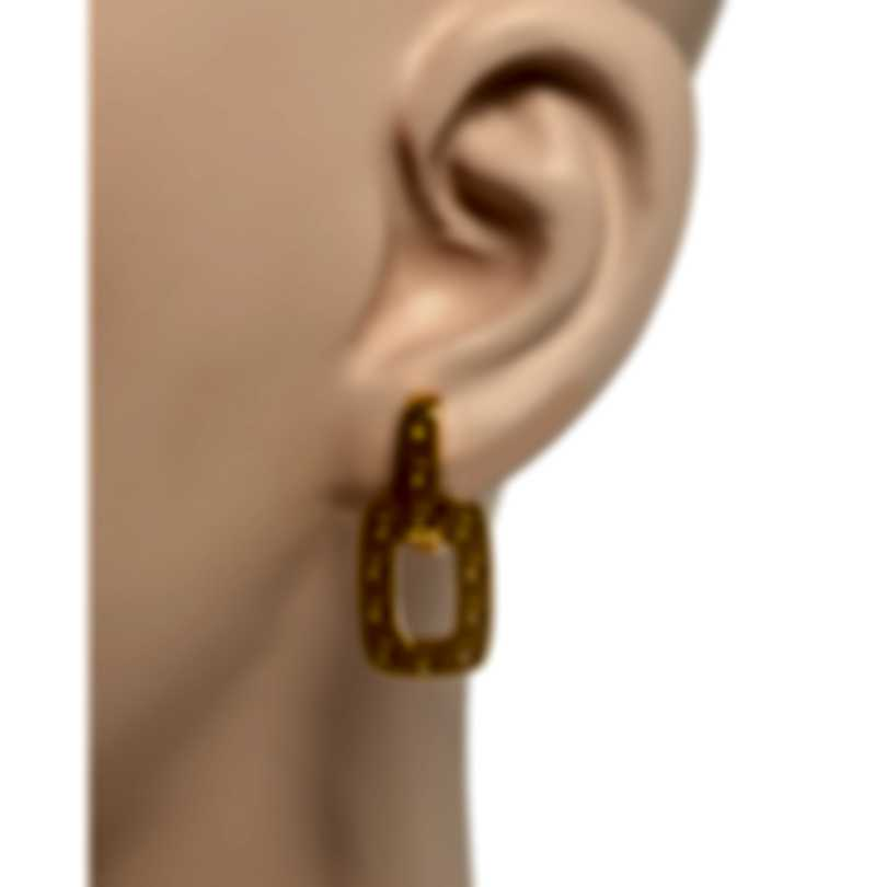 Roberto Coin Womens Pois Moi 18k Yellow Gold Drop Earrings 777938AYER00