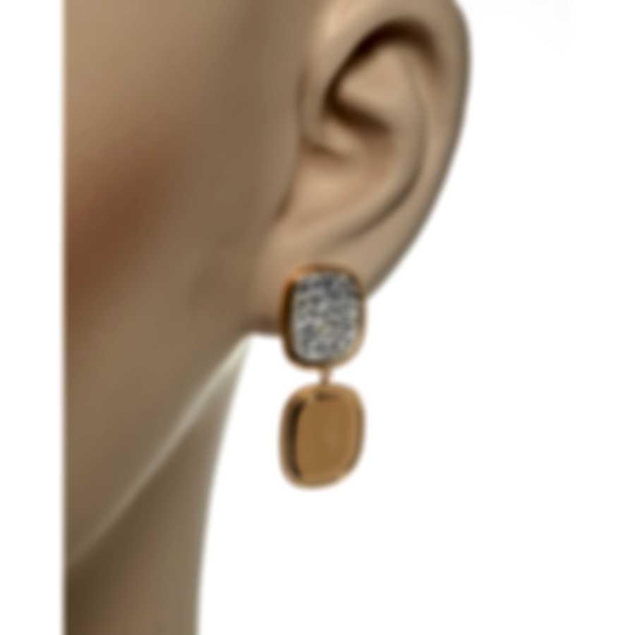 Roberto Coin Carnaby St 18k Rose Gold Diamond 1.33ct Earrings 8881873AXERX
