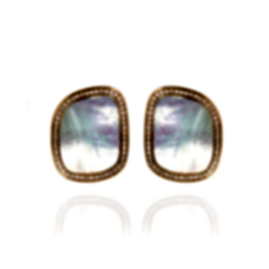Roberto Coin 18k Rose Gold Diamond(0.75ct Twd)and MOP Earrings 8881985AXERJ