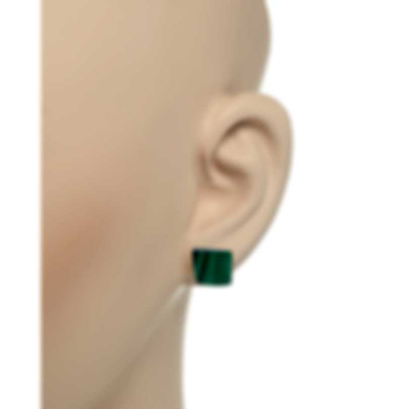 Roberto Coin Womens 18k Rose Gold And Malachite Earrings 8882429AXERM