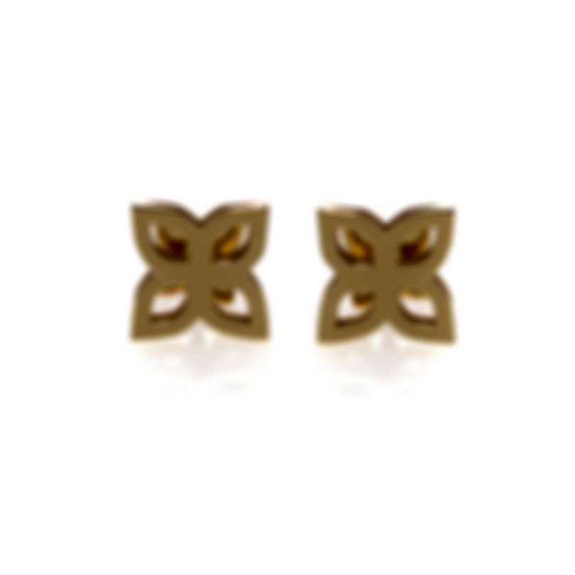 Roberto Coin Womens Princess 18k Yellow Gold Stud Earrings 8882443AYER0