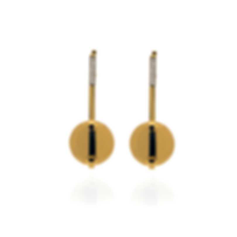 Roberto Coin Smartiesque 18k Yellow Gold Diamond 0.15ct Earrings 8882473AYERX