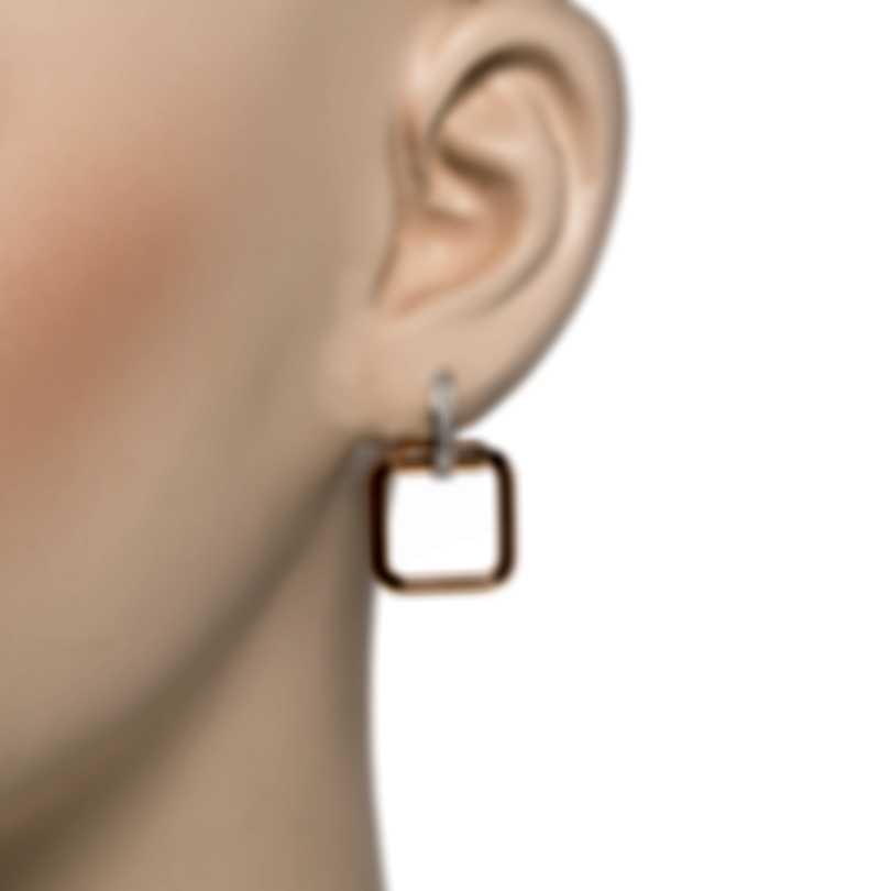 Roberto Coin Classica Parisienne 18k Rose & White Gold Diamond 0.18ct Earrings