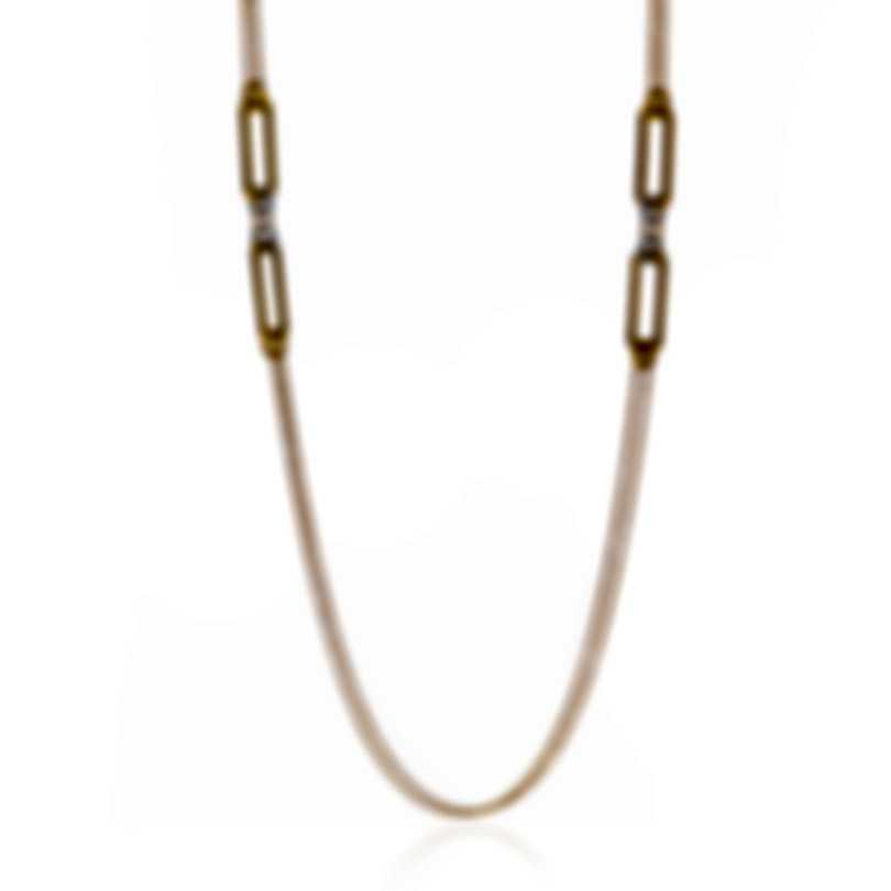 Roberto Coin Classica Parisienne 18k Gold Diamond Necklace 8882493AJ40X
