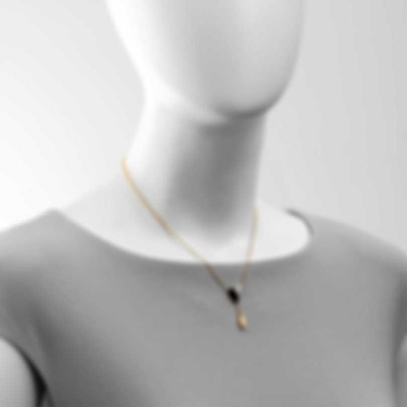 Roberto Coin Petals 18k Rose & White Gold Diamond & Jade Necklace 8882533AHCHJ